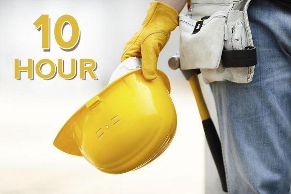 OSHA* 10-hour Construction Safety training course